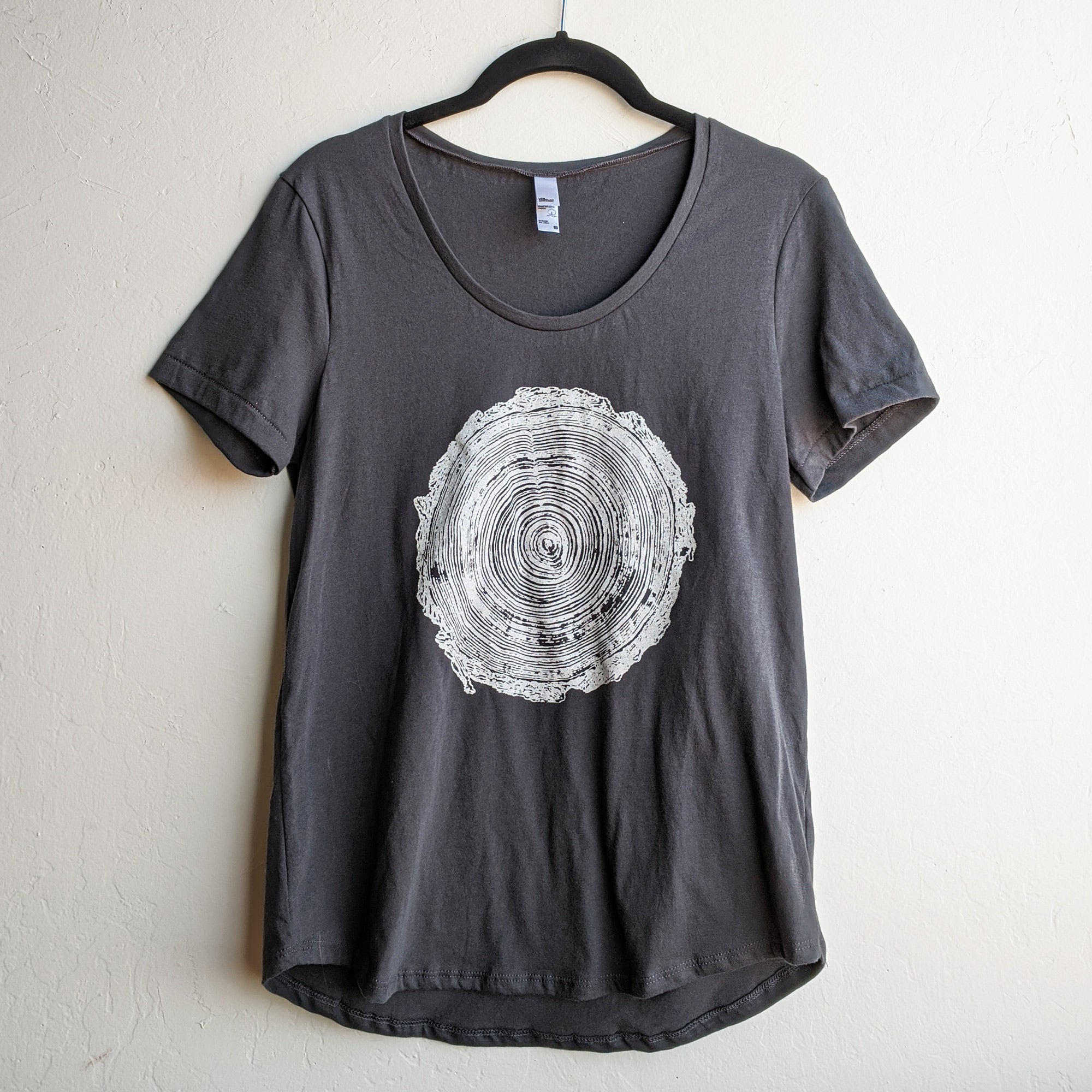 Tree Rings Womens Scoop Neck T-Shirt
