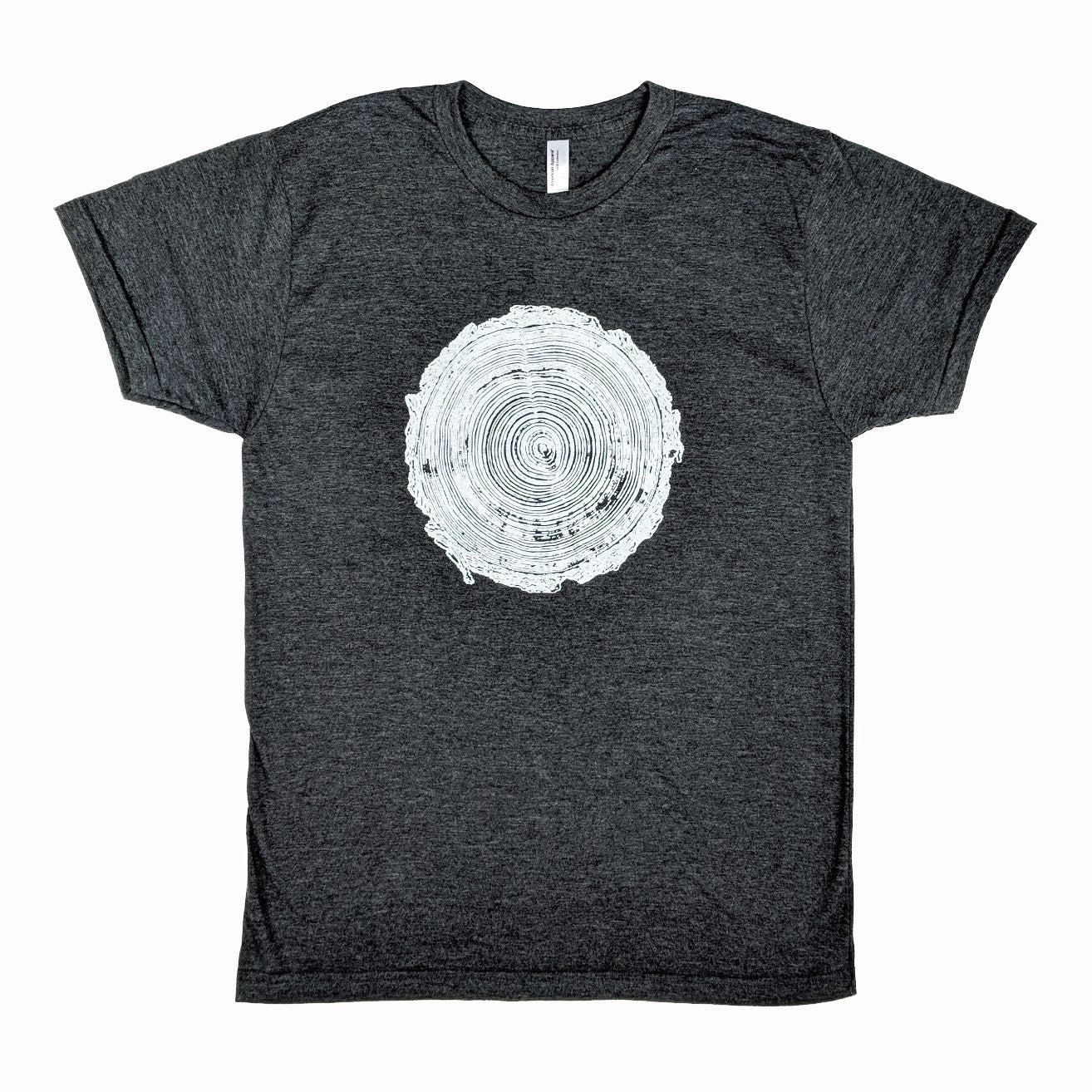 Tree Rings Heather Black T-Shirt