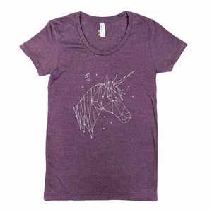 Unicorn Constellation Heather Plum T-Shirt