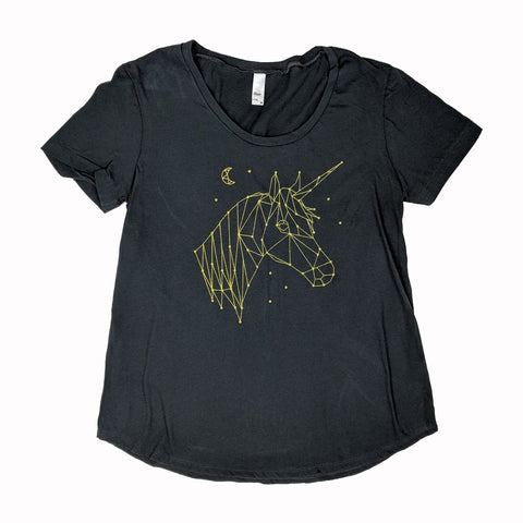 Unicorn Constellation Scoop Neck T-Shirt