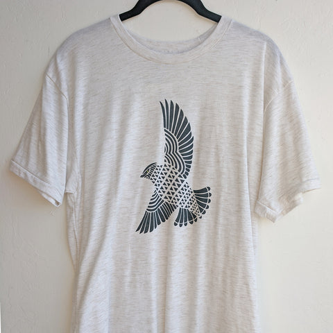 Blue Hawk Heather Oatmeal T-Shirt