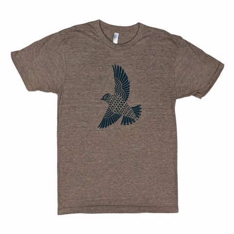 Blue Hawk Heather Coffee T-Shirt