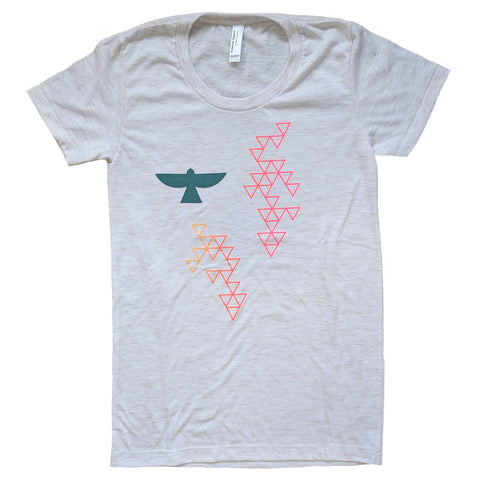 Blue Bird Triangles T-Shirt