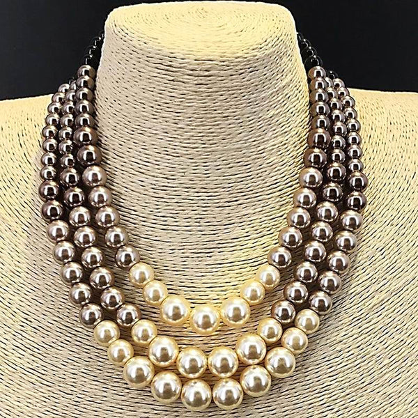 Luxury Simulated Pearl Choker Necklace