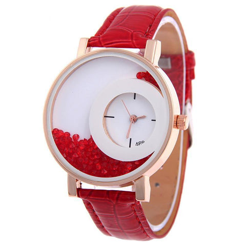 New Fashion Leather Strap Women Wrist Watches