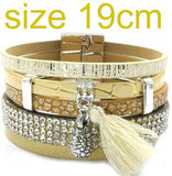 Leather bracelet Christmas gift wrap bangles