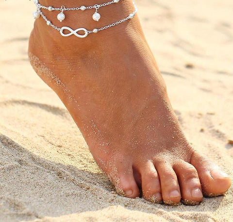 Vintage Antique Silver Color Anklet