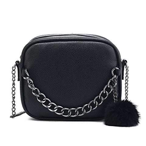 Small Designer Chain Leather Handbag