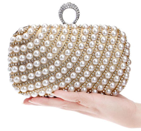 Rhinestone day clutch female wedding/party bags