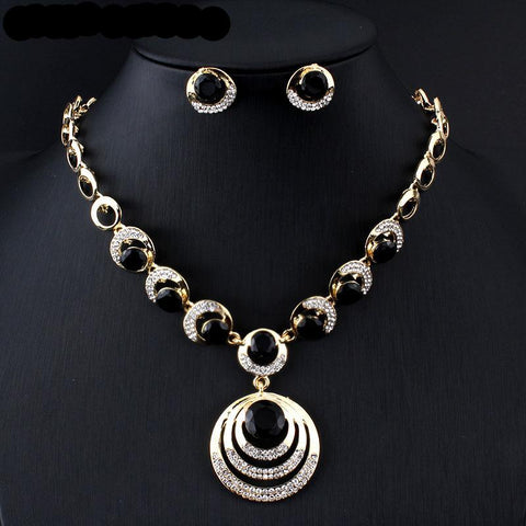 Fashion Wedding jewelry set gold-color