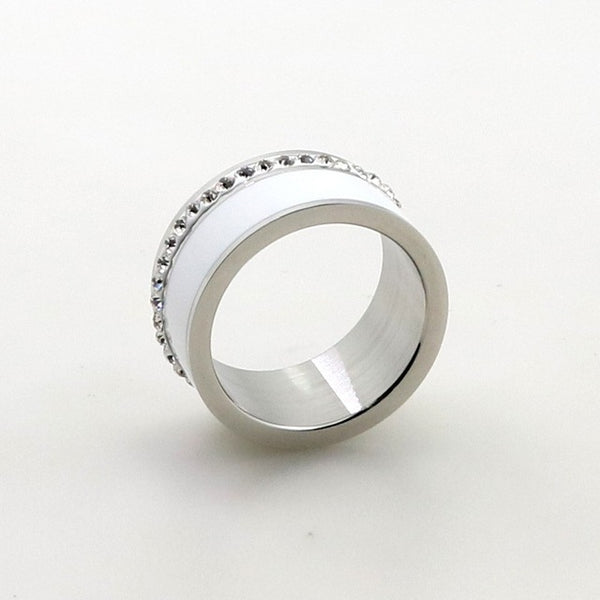 Luxury Rings for Women Wedding Gift Black/White