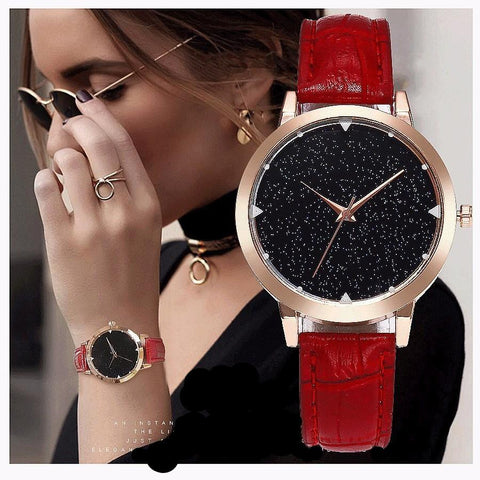 Women Leather Strap Wrist Watches