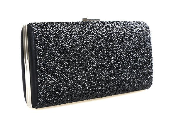 Crystal Bling Gold Clutch Bag Purses