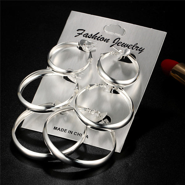 Big Round Circle Hoop Earrings for Women