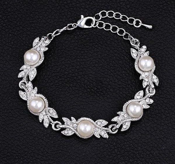 Bridal Jewelry Sets Silver Color Wedding Necklace
