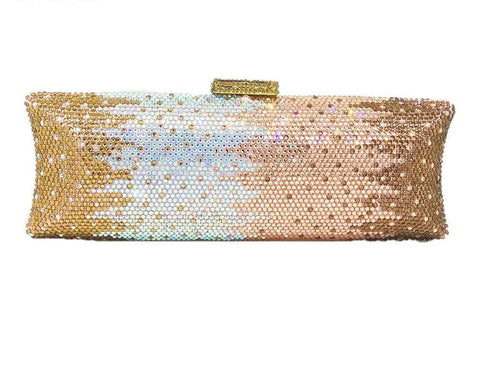 Multi Champagne Women Crystal Bag