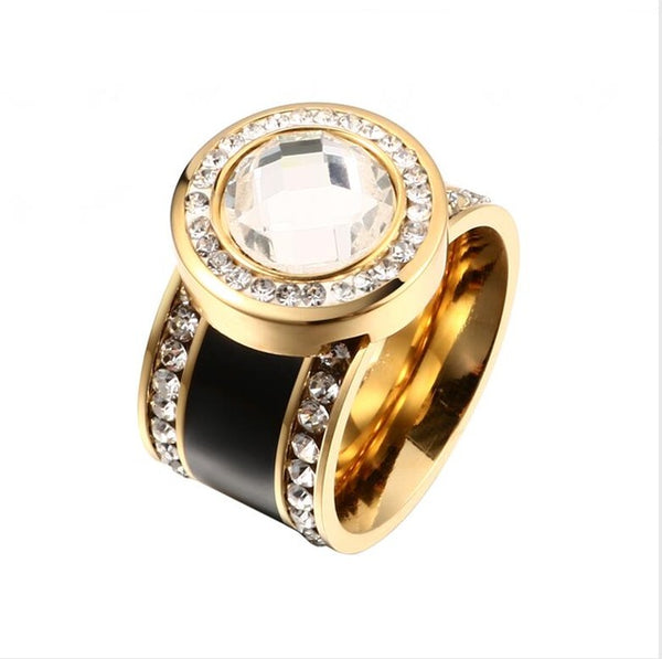 Women Gold Color Wedding Rings