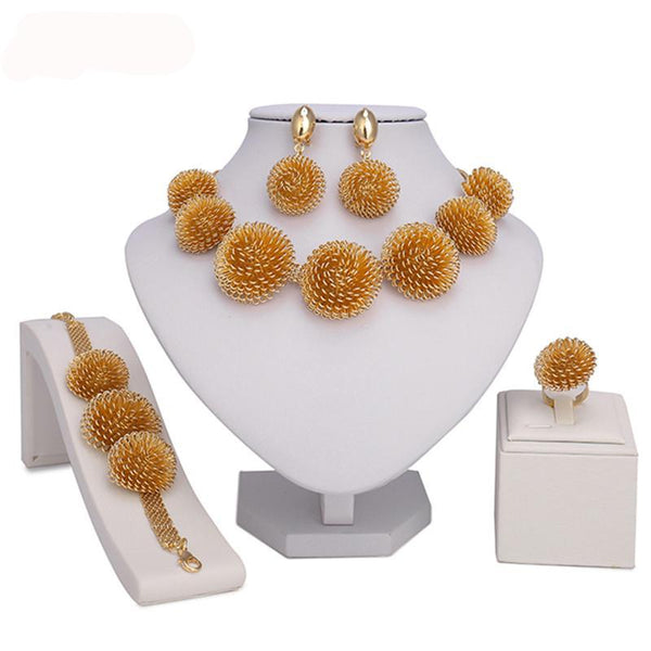 Gold-color jewelry set Wholesale design