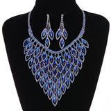 Hot Sale Fashion Purple Necklace Earring Sets