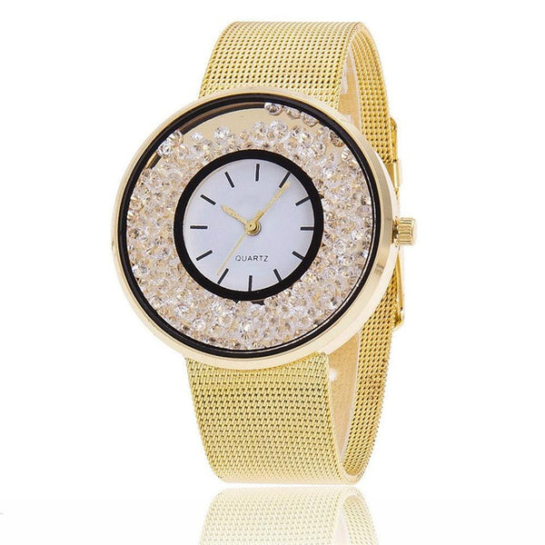 Top brand women's luxury gold and silver watches