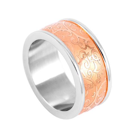 silver & gold & rose gold color 316L Stainless steel rings Luxury brand jewelry for men & women rings
