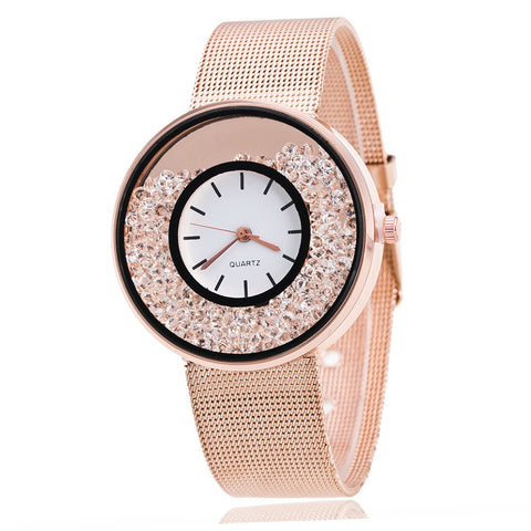 New Fashion Stainless Steel Gold & Silver Quartz Watch