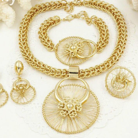 Gold Platin Jewelry Sets