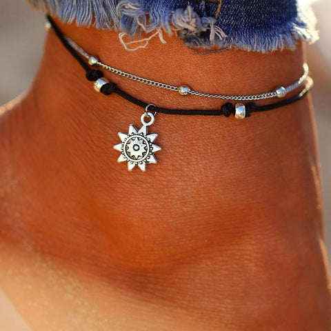 Layer Beads Anklets For Women