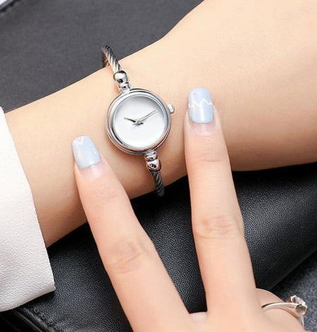 Ladies Bracelet Watch New Arrival Gold & Silver Simple Design