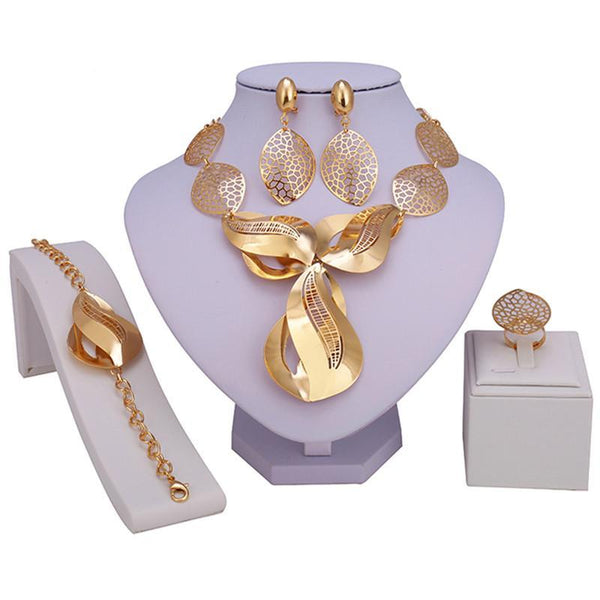 Dubai gold-color Luxury Jewelry Sets