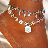 Double Layer Pendant Anklet For Woman
