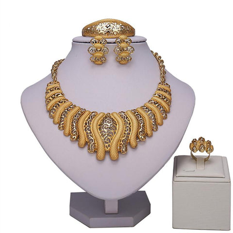 African Beads Jewelry Set Wholesale bridal Accessories