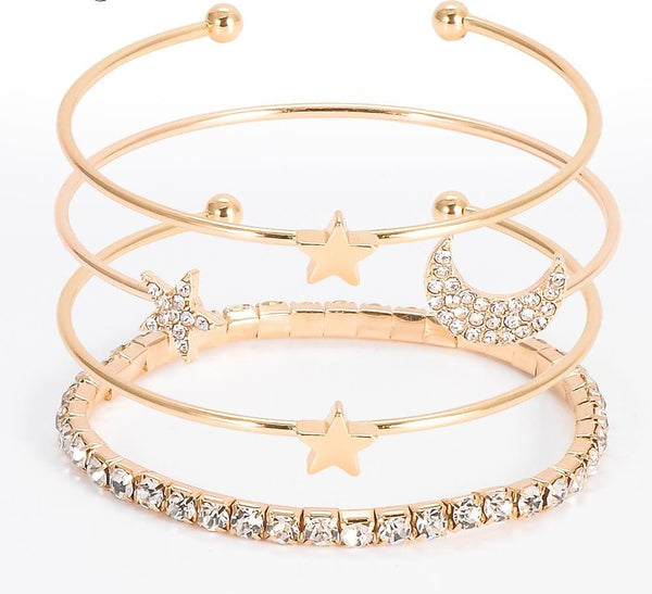 Star With Moon Bangle Jewelry Wholesale