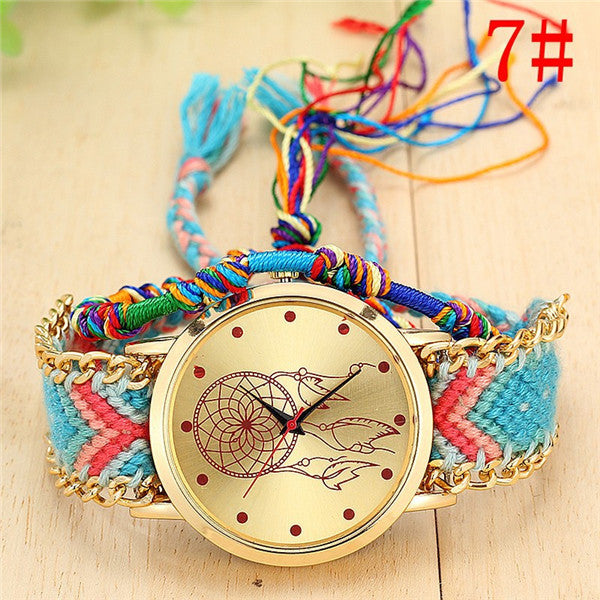 Handmade Bracelet Ladies Rope Watch