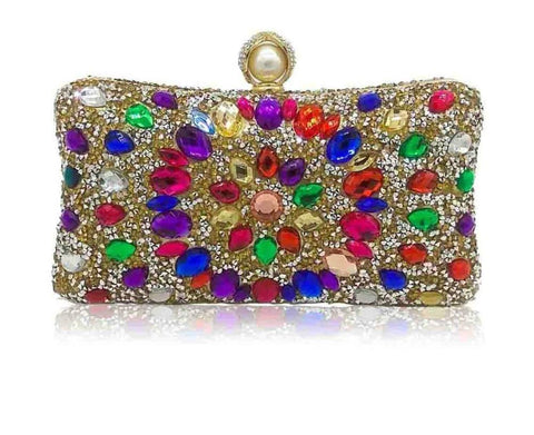 Multi Color Bridal Handbag Purse
