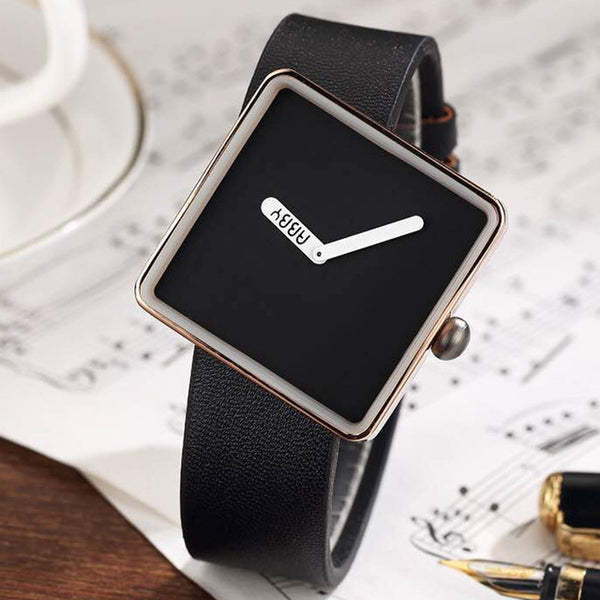 Unique Minimalist Square Ladies Wrist Watches