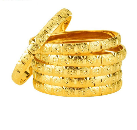 Ethiopian Jewelry Gold Color Bangles