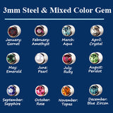 Mixed Colors Surgical Steel Earrings