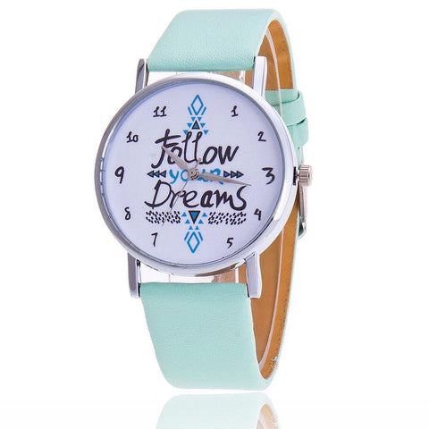 Leather Strap Wristwatch New Dress Watch Clock