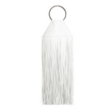 White Fringe Ring Clutch