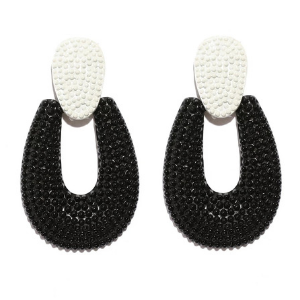 """Pria"" Textured Drop Earrings"