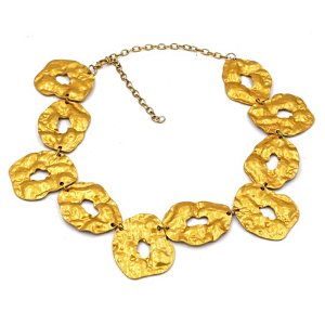 Gold Necklace In Irregular Shapes