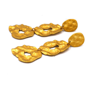 Gold Earrings In Irregular Shapes