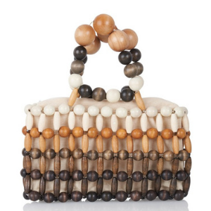 Cora Multi-Sized Beaded Bamboo Clutch