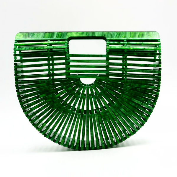 Green Acrylic Ark Style Hollow Bag