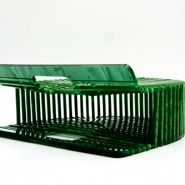 Green Acrylic Ark Style Hollow Handbag