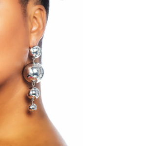 Silver Balls Drop Dangle Earrings