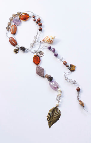 Goddess Garland - Seashell Amethyst