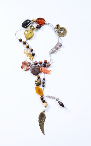 Goddess Garland - Fish Tigers Eye