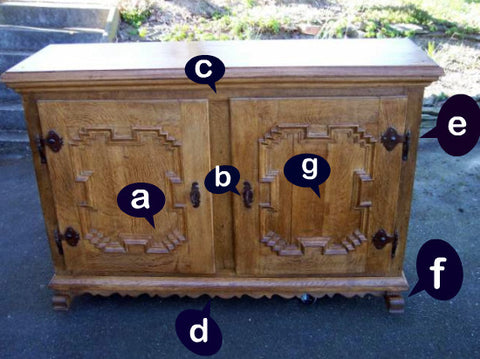 Antique milk cupboard - Antique Furniture Parts – Antique And Vintage For Profit